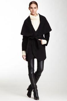 Wide Shawl Belted Coat by regina