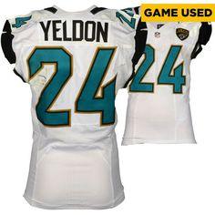 T.J. Yeldon Jacksonville Jaguars Fanatics Authentic Game-Used #24 White Jersey vs Chicago Bears On October 16, 2016 - $749.99