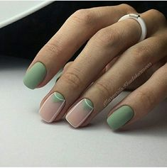 Nail Art Designs In Every Color And Style – Your Beautiful Nails Stylish Nails, Trendy Nails, Cute Nails, Beauty And More, Mint Nails, Green Nails, Minimalist Nails, Toe Nail Designs, Creative Nails