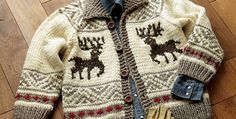 Cowichan knitted reindeer jacket   the knitting space