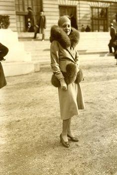 Mode aux Courses Paris Fashion Auteuil old Photo 1930