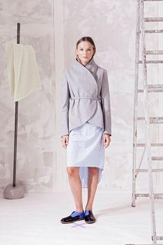 Sako zavinovací, s páskem. – MOLO7 Blazers, Normcore, Coats, Style, Fashion, Swag, Moda, Wraps, Fashion Styles