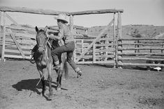old-hopes-and-boots: Cowboy mounting horse,. Cowboy Poetry, Vintage Photos, Ranch, Sculptures, Carving, Horses, Black And White, Life, Marble