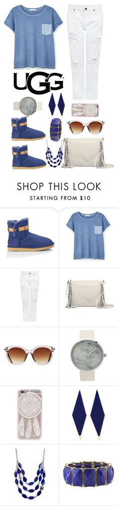 """Play With Prints In UGG: Contest Entry"" by waikiki24 ❤ liked on Polyvore featuring UGG Australia, MANGO, Edit, Icon Eyewear, Sylvio Giardina, Kenneth Cole, 1928 and thisisugg"