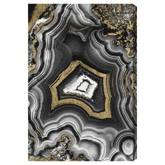 """Adore Geo Graphic Art on Wrapped Canvas-This eye-catching art seems to reveal the layers of beauty found in nature that tie in perfectly with the look of ROTW 55 """"Disco Tuxedo"""" from @allmodern"""
