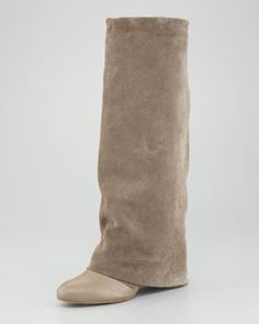 See by Chloe Fold-Over Suede Knee Boot