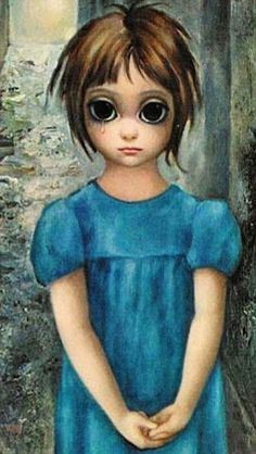 One of the 'Big Eyes' paintings Walter Keane passed off as his own - it was actually paint...