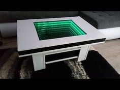 How To Make 3D LED Illuminated INFINITY VANITY MIRROR Coffee Table - YouTube