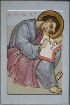 MAXIM SHESHUKOV, St. Prochoros the Deacon. Egg tempera on gessoed panel.