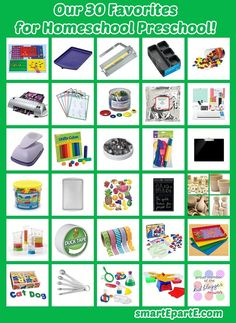 Our top 30 favorite preschool homeschool items!
