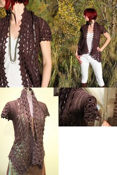 Crochet hairpin lace cardigan. Would also make a great shawl pattern.  http://www.ravelry.com/patterns/library/rebel-lace-cardi