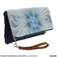 Another Floral Beauty, abstract Fractal Art Clutch