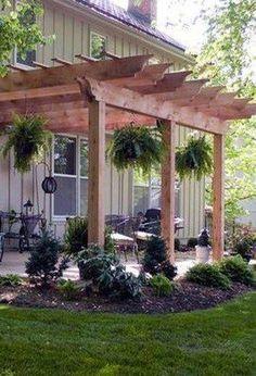 99 Beautiful DIY Pergola Design Ideas - Room a Holic Diy Pergola, Building A Pergola, Pergola Canopy, Pergola With Roof, Outdoor Pergola, Pergola Lighting, Wooden Pergola, Pergola Shade, Backyard Patio