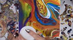 Acrylic Pour | Dirty Pour | Fluid Painting Technique with Golden High Flow, Floetrol & Silicone - YouTube