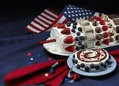 HERSHEY'S Firecracker Cake---I`ll buy the cake roll already made and add the embellishments LOL!!!!!