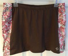 Moving Comfort Medium Skort Skirt Shorts Brown Running Tennis Golf Inner Pocket | eBay