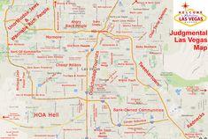 Judgmental Map of Las Vegas, NV #1 | {by Yoga Surfpunk}