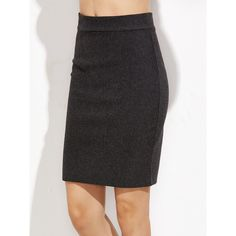 Versace Front Slit Pencil Skirt (1.665 BRL) ❤ liked on Polyvore ...