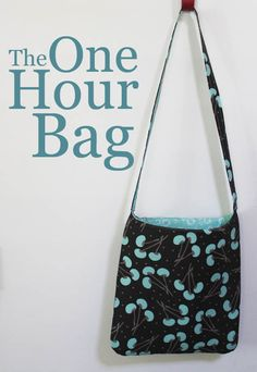 So cute! Whip up this sweet One Hour Bag with your favorite fabrics.