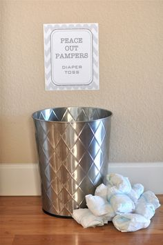 Pamper toss for a potty party! For a coed party?