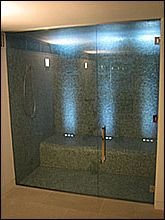 Charming Shower/Steam Room With Bench
