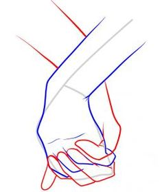 How to Draw Holding Hands, Step by Step, Hands, People, FREE Online Drawing Tutorial Drawing Skills, Drawing Lessons, Drawing Techniques, Drawing Tips, Drawing Sketches, My Drawings, Sketching, Manga Drawing, Figure Drawing