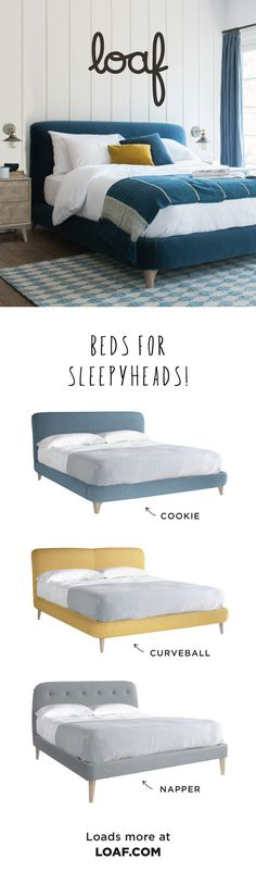 Beds for sleepyheads. our handmade homage to life in the slow lane! Grown Up Bedroom, Room Ideas Bedroom, Home Bedroom, Bedroom Decor, Bedroom Colour Palette, Bedroom Colors, Loft Conversion Rooms, Interior Design Living Room, Kitchen Interior