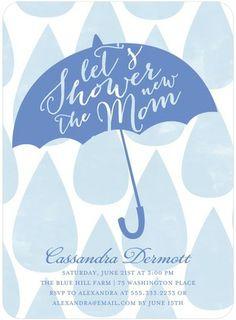 Umbrella of Love - Baby Shower Invitations//
