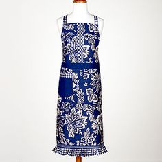 Love this color and the fact that it's 100% cotton: Shinjuku Floral Apron with Flounce   Linens  Kitchen & Dining   World Market