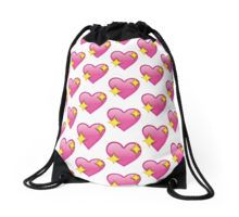 Sparkle heart emoji Drawstring Bag