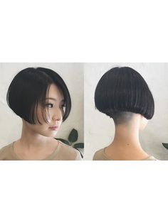 Asian Bob, Asian Short Hair, Short Hair Cuts, Short Hair Styles, Natural Hair Styles, Short Wedge Hairstyles, Stacked Bob Hairstyles, Short Bob Haircuts, Shaved Nape