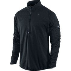 Nike Men`s Dri-Fit Thermal Element Running Jacket Black Nike Outfits, Sport Outfits, Black Jacket Outfit, Nike Wear, Nike Shoes Cheap, Mens Fall, Mens Activewear, Running Jacket, Mens Fitness