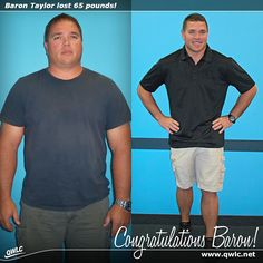 """Congratulations to Baron Taylor from Okeechobee, Florida for losing 65 pounds in 13 weeks on the Quick Weight Loss Centers program!  """"Before Quick Weight Loss Centers, I ate terribly and didn't have any energy. I was surprised that the weight came off so fast! I loved that I could eat normal food without counting calories, and that the staff was very supportive."""" -Baron Taylor.  Read his Quick Weight Loss success story: http://quickweightloss.net/testimonials?id=65.taylor"""