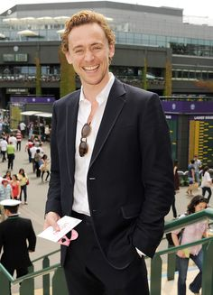 63 Photos of Your Favorite Stars at Wimbledon - Tom Hiddleston, 2012 from InStyle.com
