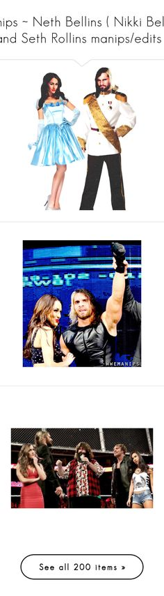 """Ships ~ Neth Bellins ( Nikki Bella and Seth Rollins manips/edits )"" by queenofwrestling ❤ liked on Polyvore featuring manip, wwe couples, wwe, manips, home and home decor"