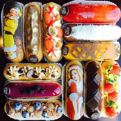 Life Will Never Be as Perfect as These Éclairs - Bon Appétit Eclairs, Köstliche Desserts, Delicious Desserts, Dessert Recipes, Yummy Food, Pasta Choux, Do It Yourself Food, Food Porn, Choux Pastry