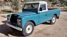 Land rover Santana Serie II A Pick-up in Blue. By Santana Motor Factory. Spain.