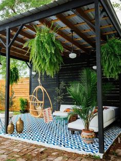 CLEAN AND FRESH BACKYARD PATIO LANDSCAPE IDEAS. You possibly can make your house much more special with backyard patio designs. You can turn your backyard in to a state like your dreams. You won't have any trouble now with backyard patio ideas. Backyard Gazebo, Backyard Patio Designs, Small Backyard Landscaping, Pergola Patio, Pergola Designs, Small Patio, Landscaping Ideas, Patio Ideas, Pergola Kits