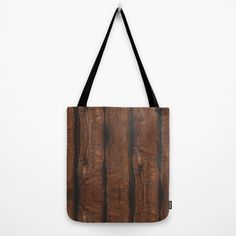 Rustic brown old wood print Tote Bag by #PLdesign #rustic #wood *available in 3 sizes*