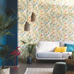 The jungle collection is full of colour and motifs with bright, tropical, on-trend opulence.Offer off first order: CASELTEN Tropical Birds, Tropical Decor, Empire Wallpaper, Room Wallpaper, Wallpaper Ideas, Papier Paint, Ashford House, Paradise Wallpaper, Florence Broadhurst