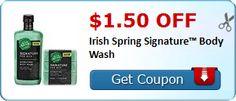 $1.50/1 Any Irish Spring® Signature for Men Body Wash or Bar Soap or Irish Spring® GEAR® Body Wash + HOT Deals! - http://couponkarma.com/?p=157380