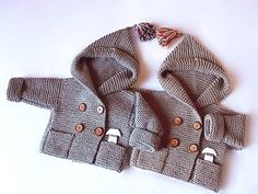 Hand Knit coat Hooded children's Jacket Kids Coat with by Pilland, $110.00
