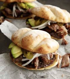 Possibly the most interesting sandwiches in the world, Mexican tortas combine boldly seasoned elements in a way that achieves both complexity and a certain delicacy. This recipe is from my very dear friend Roberto Santibañez, chef/owner of Fonda. Friendship aside, my critical side knows that