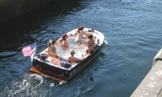 Hot Tub Boat  www.hottubboats.com  #hottubboats #hottubboat  In 2012, Hot Tub Boats in Seattle launched it's first-of-a-kind, self heating, propelled hot tub vessel (patent pending). Concept, design, and execution have been in-house by a small, devoted team of shipwrights. Since our inception, Hot Tub Boats has worked closely with the U.S. Coast Guard to ensure we manufacture a high-quality, safe boat.