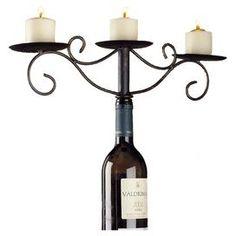 Marianne Wine Bottle Candelabra
