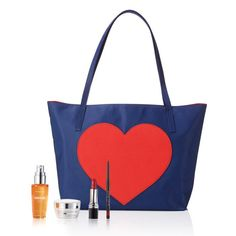 """Valued at $88, the set includes:This bundle comes straight from the heart with top-rated picks and an exclusive tote.Limited-edition 5-piece collection includes:• Valentine's Day Tote• Anew Vitamin C Brightening Serum• Anew Clinical Eye Lift Pro Dual Eye System• Avon True Color Glimmersticks Lip Liner in True Red• Avon True Color Nourishing Lipstick in Candy RedValentine's Day Tote• Handle drop is 9""""• Fully lined• 17 ½"""" L x 3"""