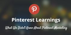 Everything We Had Wrong About Pinterest Marketing https://blog.bufferapp.com/pinterest-learnings?utm_content=buffer0f68c&utm_medium=social&utm_source=pinterest.com&utm_campaign=buffer