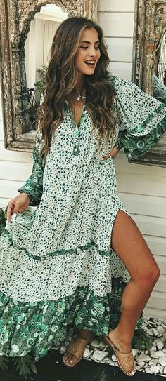 Love this bohemian lightweight dress for spring and summer!