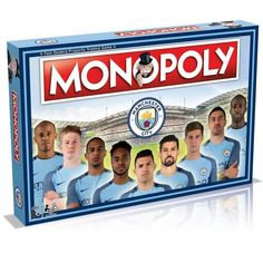 Manchester City Edition of the classic board game Monopoly featuring past and present players. FREE DELIVERY on all of our merchandise Clubs In Manchester, Manchester City, Classic Board Games, Association Football, Uk Football, Presents, Baseball Cards, Gifts, Monopoly Board