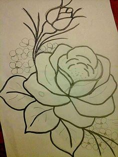 Art Painting, Silk Painting, Roses Drawing, Art Drawings, Drawings, Fabric Painting, Painting Patterns, Flower Drawing, Flower Sketches